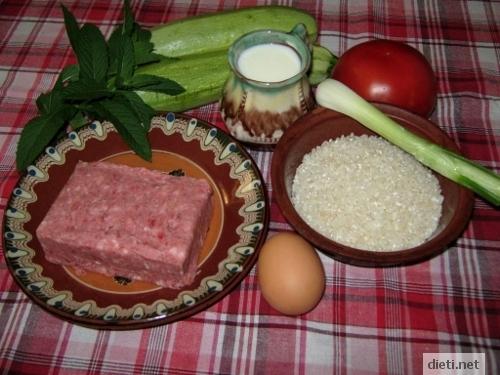 Мусака от тиквички - продукти