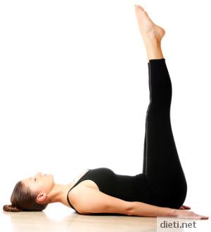 Упражнение 1 - стягане корем