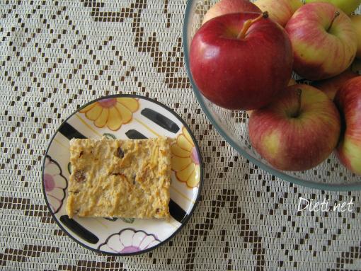 Диетичен десерт с извара и ябълки