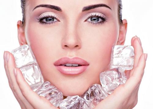Кубчета лед за кожата на лицето - домашна криотерапия