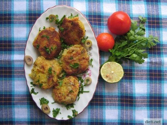 Картофени кюфтета с риба тон