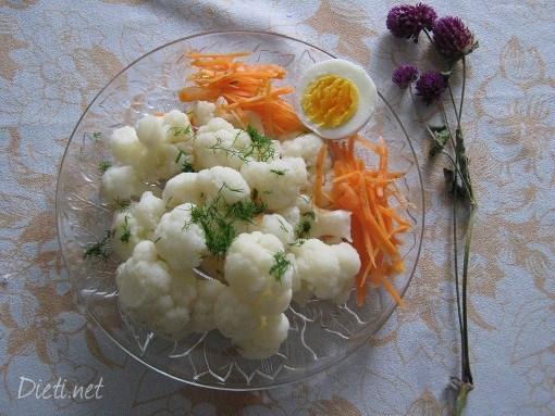 Бяла салата от цветно зеле