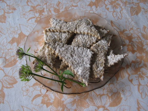 диетични овесени крекери с мащерка