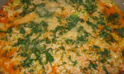 готови тиквички с ориз