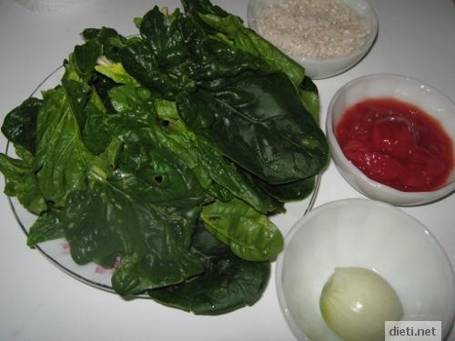 продукти за супа от спанак