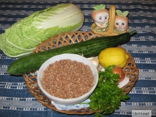 продукти за салата от елда